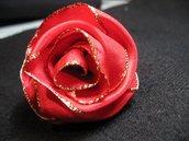 Rosa di nastro, spilla - Ribbon brooch rose