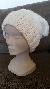 berretto donna invernale bianco