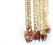 Collana incisione Iniziale lettera cuore inciso oro regalo donna
