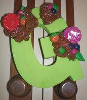 Lettere in legno decorate