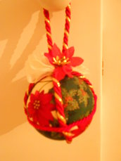 Pallina con stella di Natale