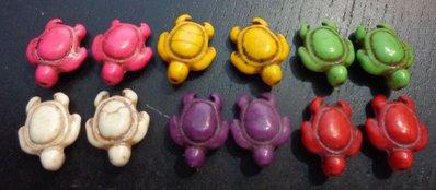 12 Perline Tartarughe 6 colori