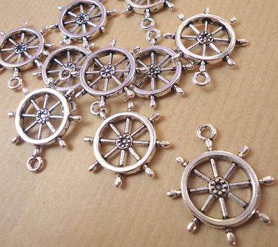 5 ciondoli TIMONE - argento tibetano cm 2,6