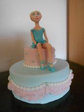 Cake topper ballerina