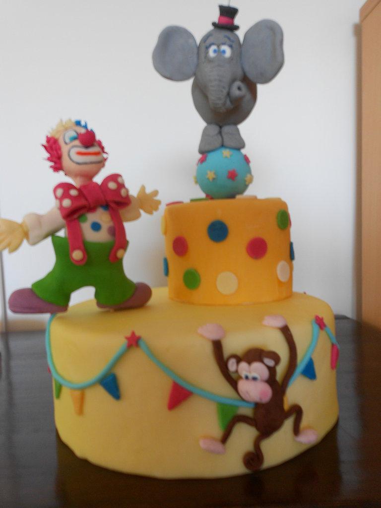 Cake topper circo