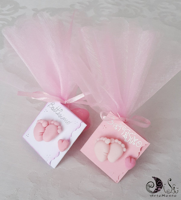 Favorito Card Art bomboniera battesimo nascita e baby shower favors e  ZG19