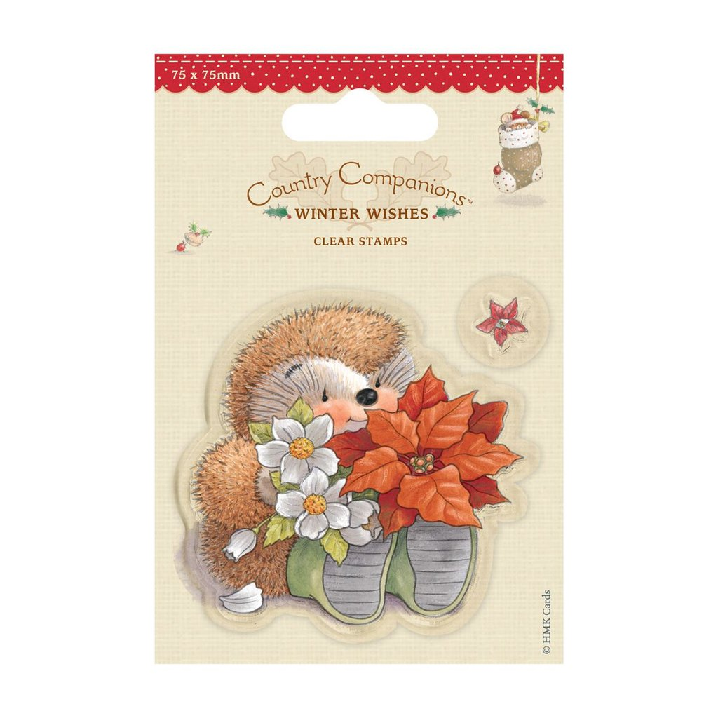 """Mini Clear Stamps - Winter Wishes """"Poinsettia"""""""