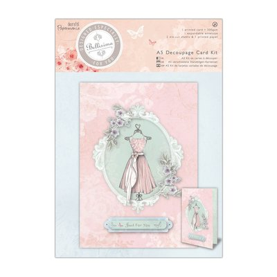 "A5 Decoupage Card Kit - Bellisima ""Dress"""