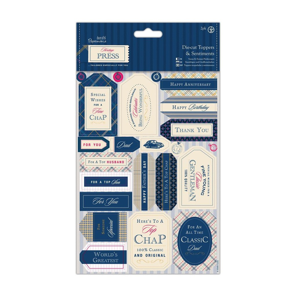 Die-cut Toppers and Sentiments - Heritage Press