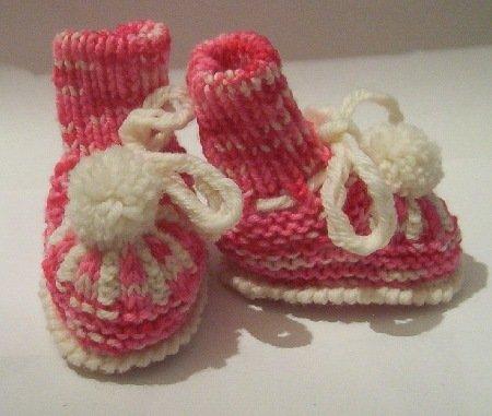 scarpette x neonato di lana