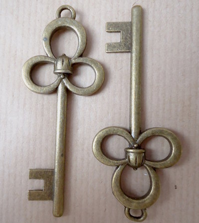 1pz ciondolo MAXI CHIAVE - bronzo cm 7,8