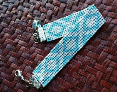 Bracciale 'Colombia' in tessitura di perline
