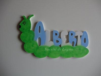 Nome Alberto in legno da appendere