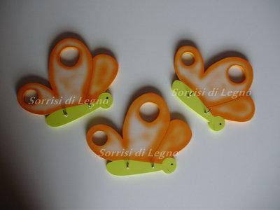 Farfalle arancioni portachiavi, portapresine