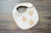 Bavaglino neonato con stelle