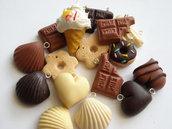 Lotto 16 Charms Dolci e Cioccolato