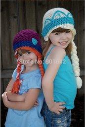 Elsa Anna Frozen Handmade Cappelllo Crochet