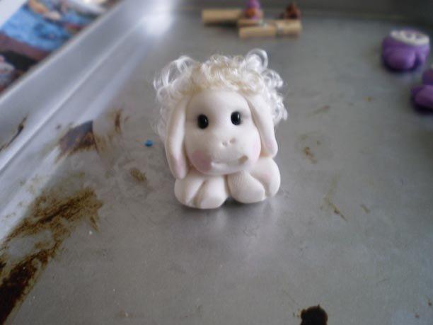 Pecorella in fimo
