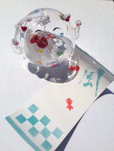 Furin Maneki Neko, in vetro