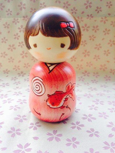 Bambola giapponese - Kokeshi Ochame