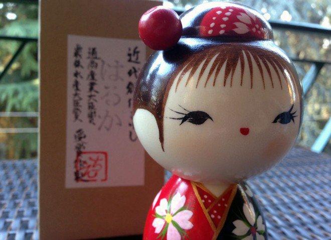Bambola giapponese - Kokeshi Sguardo Lontano