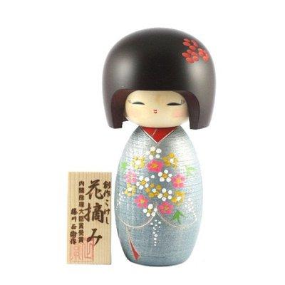 bambola giapponese - Kokeshi Abbraccio dei Fiori