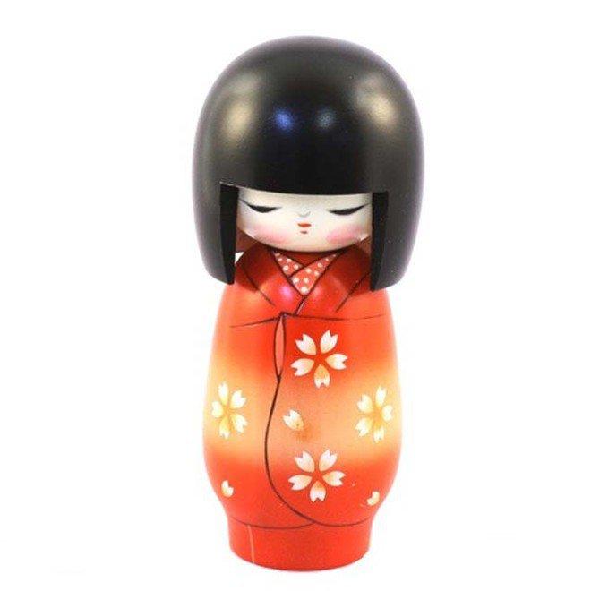 Bambola giapponese - Kokeshi Tempo dei Fiori