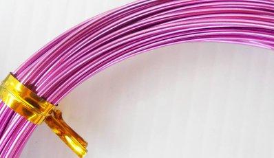 Filo d'alluminio viola  da 1 mm bobina da  6 mt