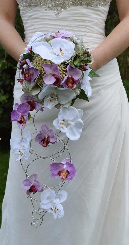 Bouquet orchidea realizzato a mano