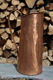 Portaombrelli brocca unica originale in rame lavorato a mano