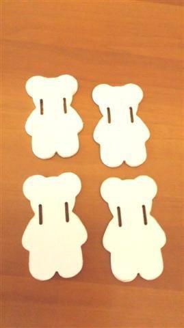INSERZIONE RISERVATA per MARMELLATA - ORSETTI in legno laccato bianco misure miste - no fimo