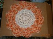 centro bicolore panna e arancio