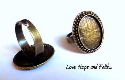 Base anello color bronzo (17,5mm) (cod.19816)