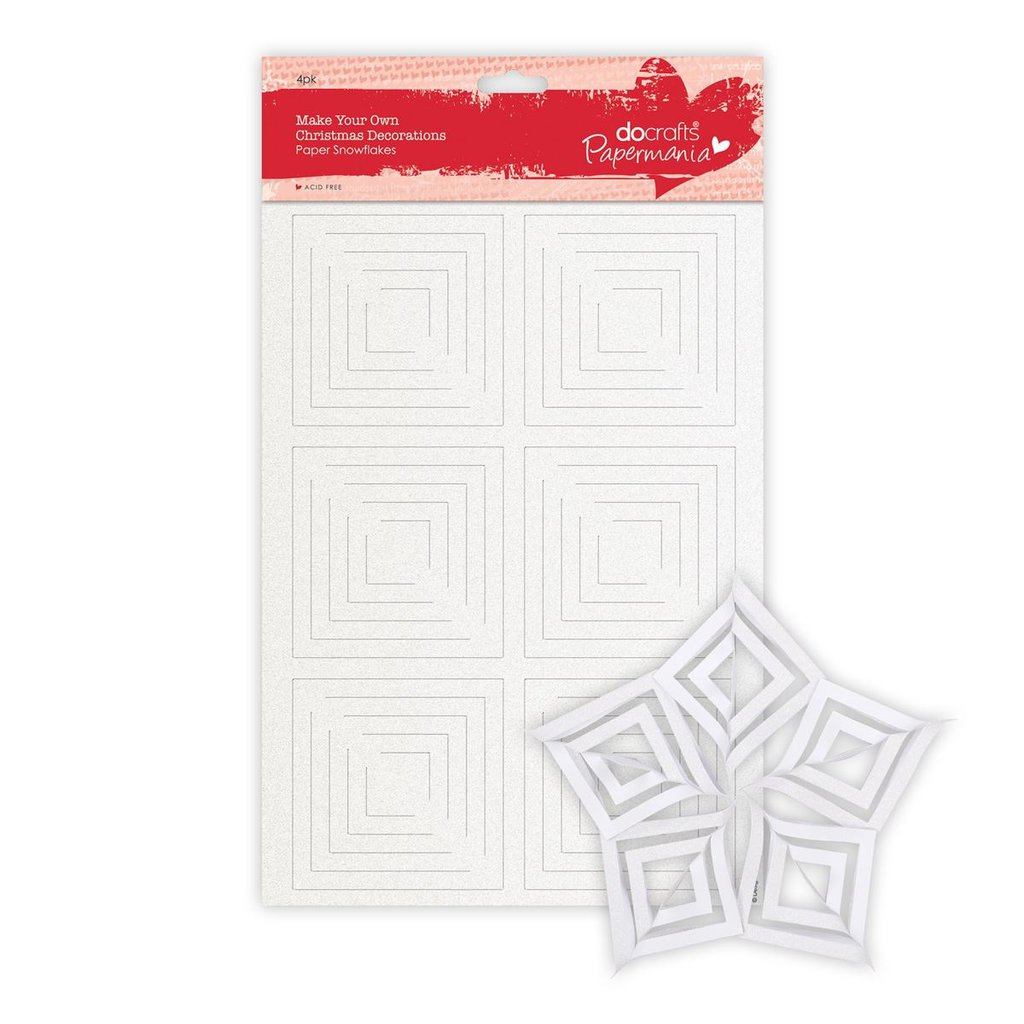 Make Your Own Christmas Decorations - Christmas Paper Snowflakes