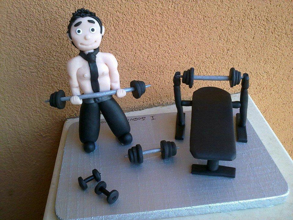 Topper cake Fitness