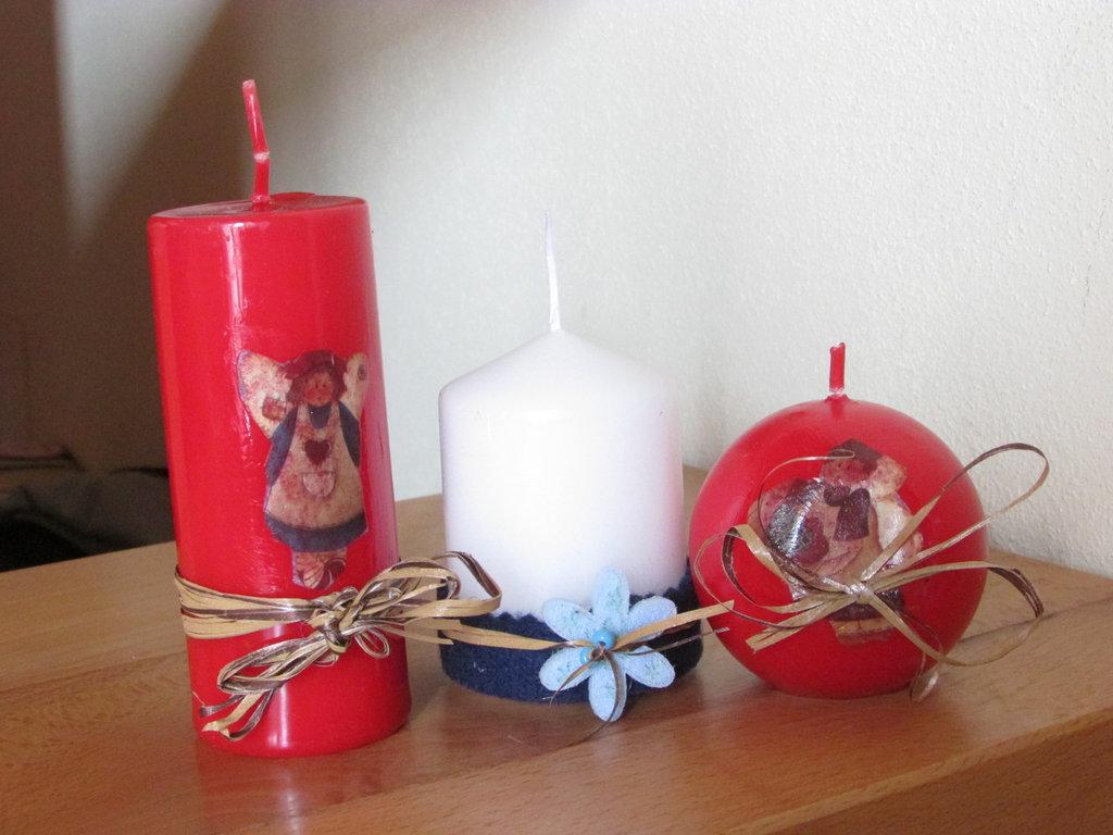 candele natalizie decupage