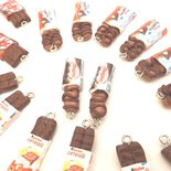 OFFERTA LOTTO STOCK 6  CHARMS - snack merendina  - fimo - BUENO - KIT KAT - CEREALI - DUPLO