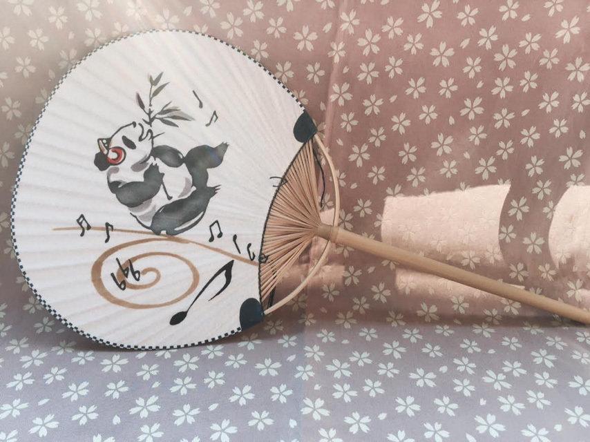 Ventaglio, Panda in tessuto