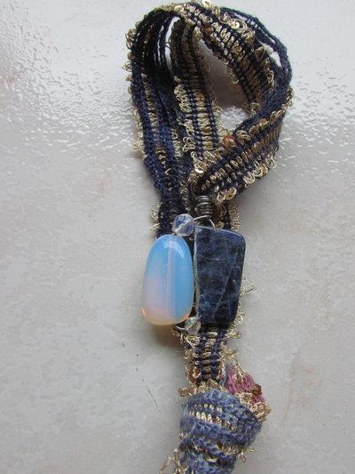Nastro oro viola opale e sodalite