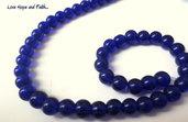 """LOTTO 10 perle in vetro color """"Blu elettrico"""" (6 mm)  (cod.11627)"""