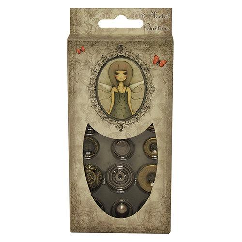 Mix 12 bottoni in metallo - Mirabelle