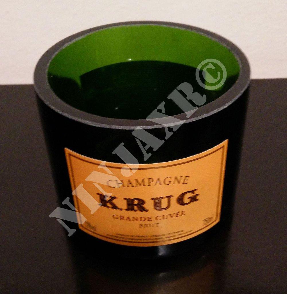 Vaso porta penne porta oggetti da Bottiglia di Champagne krug