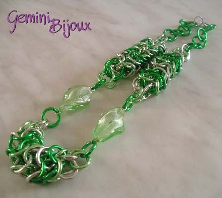 Collana Chainmail Verde