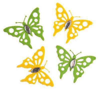 8 miniature di feltro - Farfalla