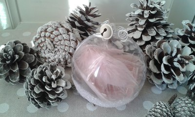 Sfera romantica rosa da 8cmr