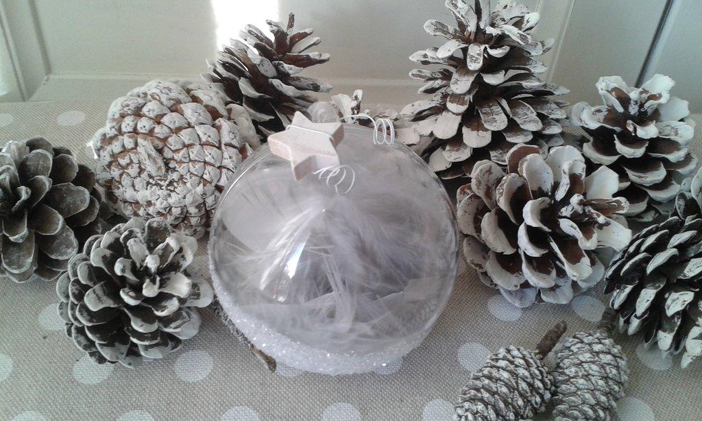 Sfera romantica grigio polvere 8cm