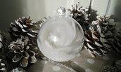 Sfera romantica bianca 8cm