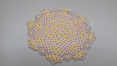 Centrino realizzato a mano di perline rocailes toho cm 13 circa di diametro