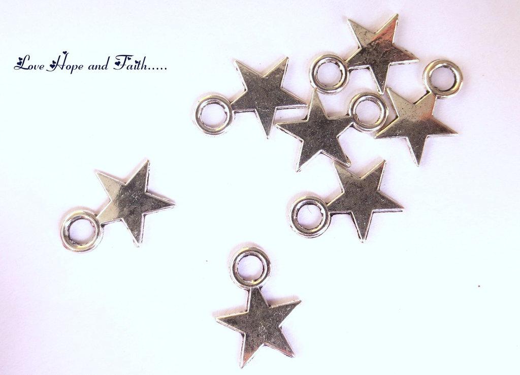 "Charm ciondolo ""Stellina"" (8x11 mm) (cod.00349)"