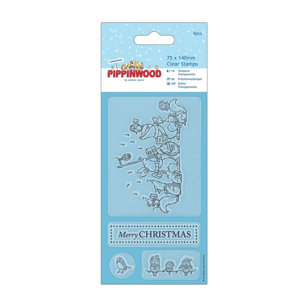 """Clear Stamp - Pippinwood Christmas """"Singing"""""""